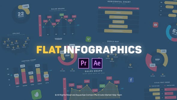 Flat Design Infographics l MOGRT for Premiere Pro