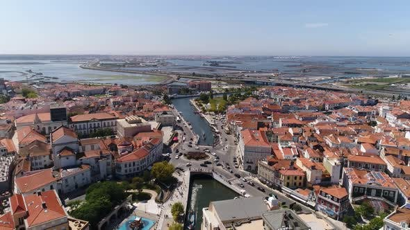 Thumbnail for Aerial View of Historic City Center of Aveiro, Portugal