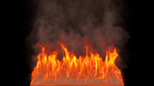 Thumbnail for Realistic Fire Flames With Smoke