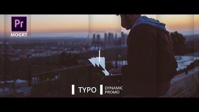 Dynamic Typo Promo Premiere Pro MOGRT