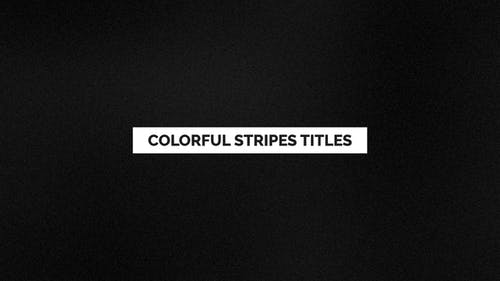 Colorful Stripes Titles