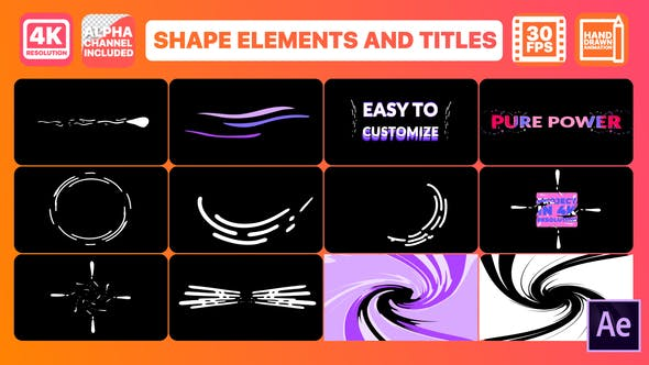 Thumbnail for Dynamic Shapes And Titles | After Effects