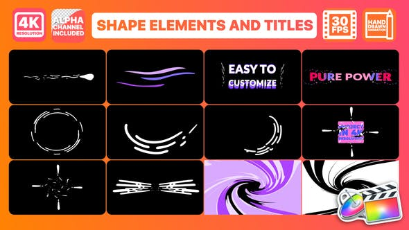 Thumbnail for Dynamic Shapes And Titles | FCPX