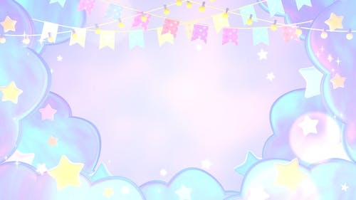 Pastel Bunting Flags And Stars