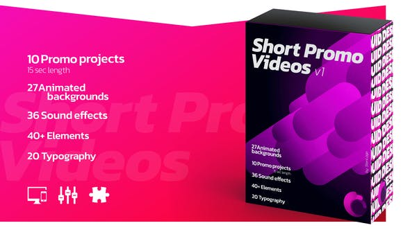 Thumbnail for Short Promo Videos. Set v.1 (Promo projects   Sound FX   Typography & more)