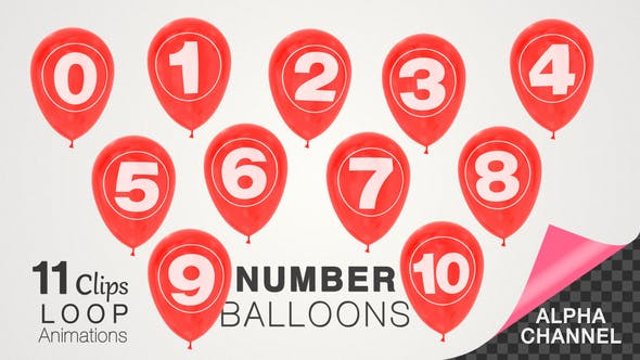 Thumbnail for Balloons Pack With Numbers