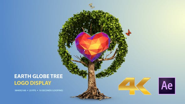 Thumbnail for Earth Globe Tree (Logo Display)