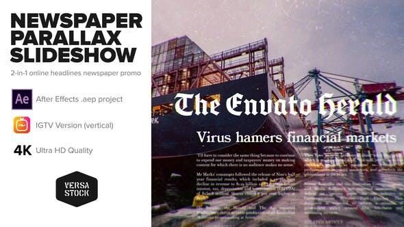 Thumbnail for Newspaper Parallax Slideshow Promo