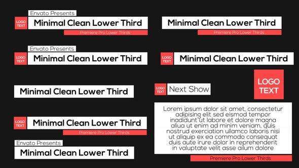 Minimal Clean Lower Thirds