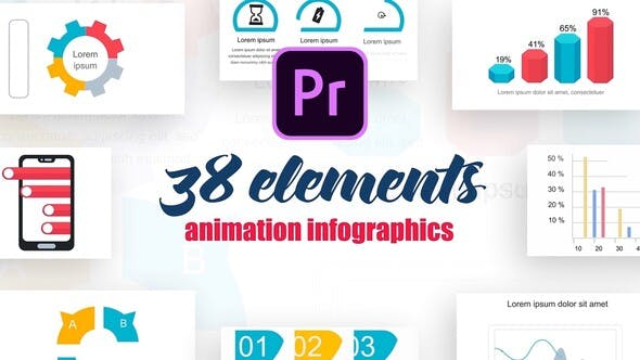 Thumbnail for Infographics Vol.7 for Premiere Pro