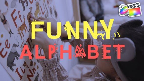 Funny Alphabet | FCPX