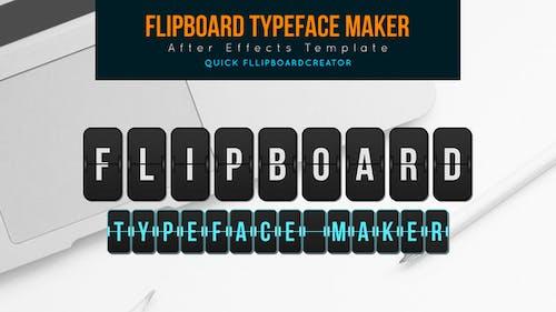 Flip board Typeface Maker
