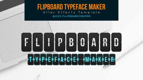 Flip board Fabricante de tipos de letra