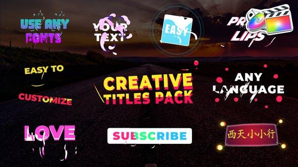 Creative Titles   FCPX
