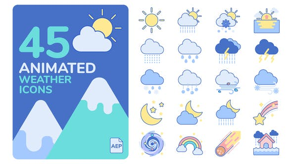 Thumbnail for Animated Weather Icons