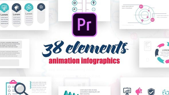 Thumbnail for Infographics Vol.9 for Premiere Pro