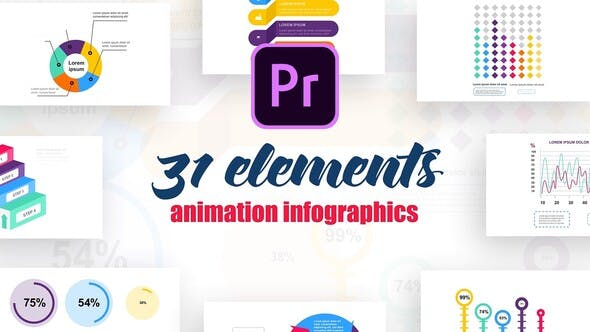 Thumbnail for Infographics Vol.10 for Premiere Pro