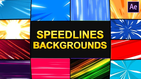 Thumbnail for Speedlines Backgrounds | After Effects