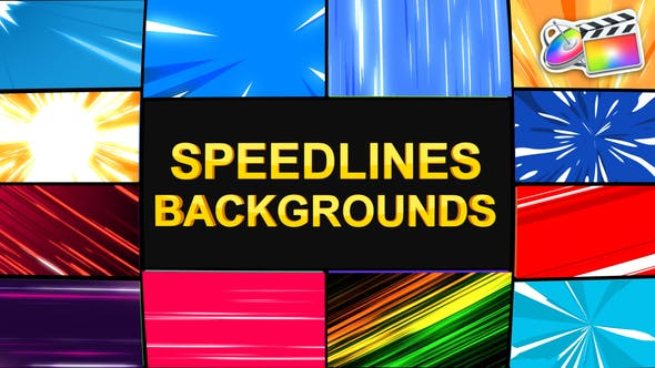 Thumbnail for Speedlines Backgrounds | FCPX