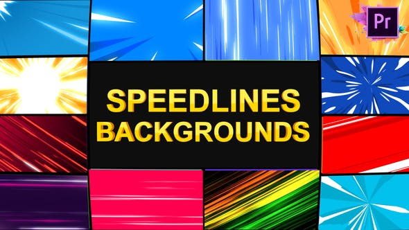 Thumbnail for Speedlines Backgrounds | Premiere Pro MOGRT