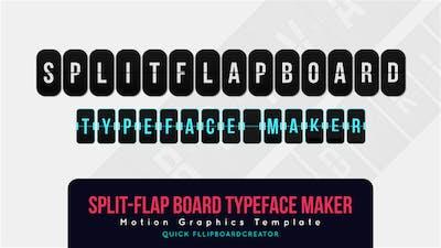 Split Flap Board Typeface Maker