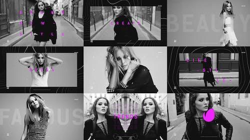 Short Fashion Promo / Fast Typography Opener / Dynamic Vlog Intro
