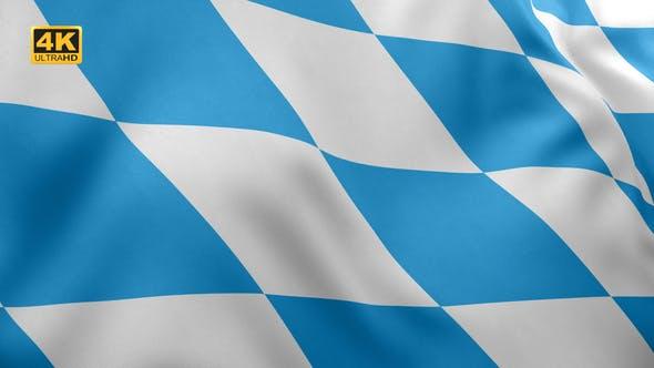 Thumbnail for Bavaria Flag (Lozengy) - 4K