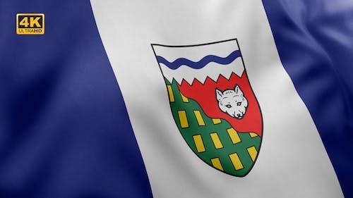The Northwest Territories Flag - 4K