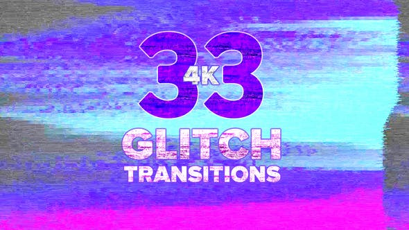 Thumbnail for 4k Glitch Transitions Pack