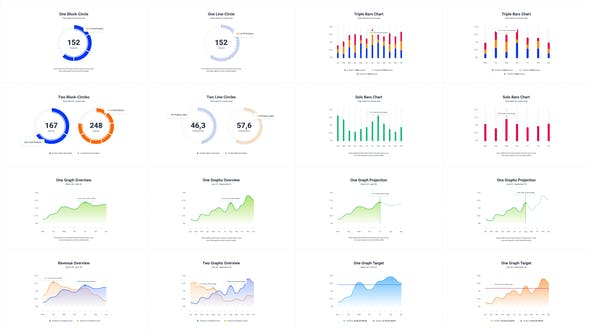 Thumbnail for Infographics Charts Pack 2