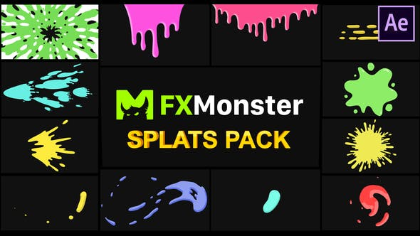 Thumbnail for Splats Pack | After Effects