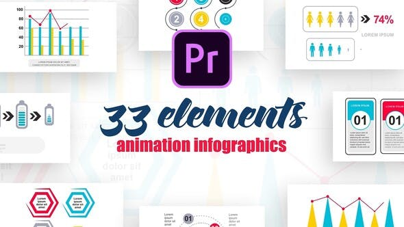 Thumbnail for Infographics Vol.12 for Premiere Pro
