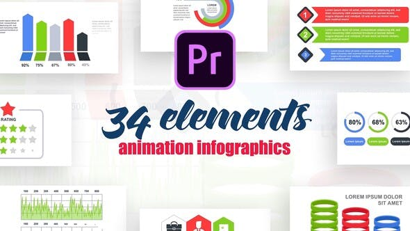 Thumbnail for Infographics Vol.13 for Premiere Pro
