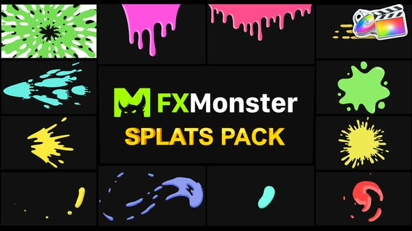 Thumbnail for Splats Pack | FCPX