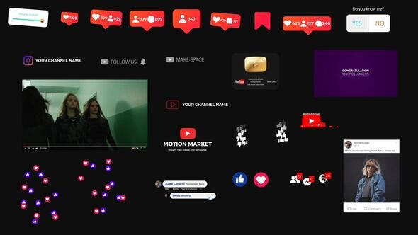 Thumbnail for Social Media Elements