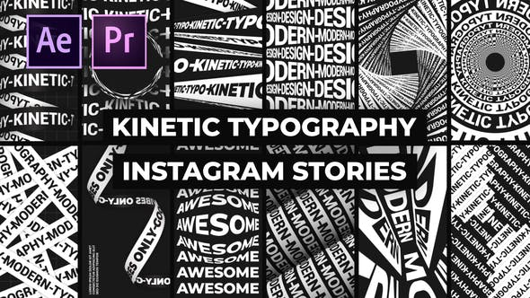 Thumbnail for Kinetic Typography Instagram Stories