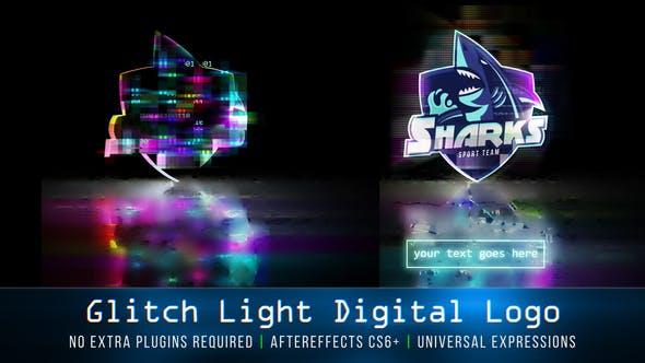 Thumbnail for Glitzer-Licht Digitales Logo