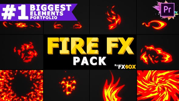 Dynamic Fire Elements   Premiere Pro Mogrt