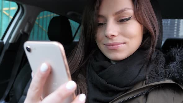 Thumbnail for Online Video Chat by Young Female Sitting in Car