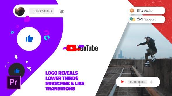 Современный канал Youtube | Для Premiere Pro