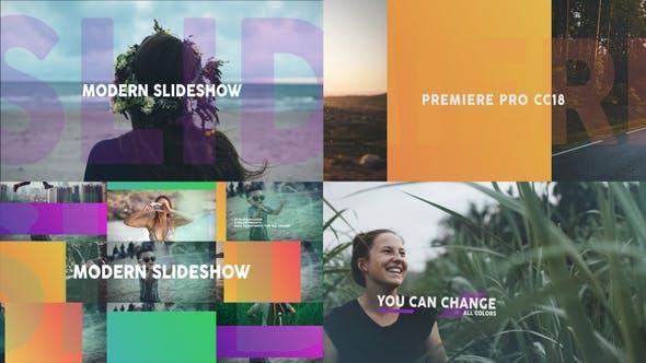 Thumbnail for Modern Dynamic Slideshow MOGRT