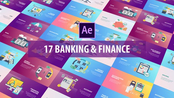Thumbnail for Banking and Finance - Flat Animation