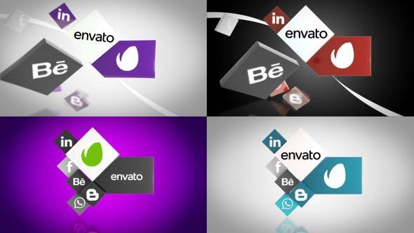 Thumbnail for Social Media Unfold Logo Reveal