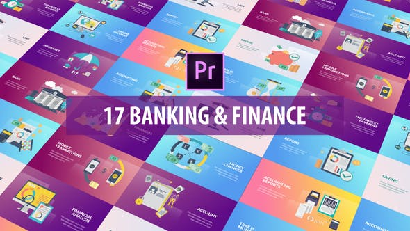 Thumbnail for Banking and Finance - Flat Animation (MOGRT)