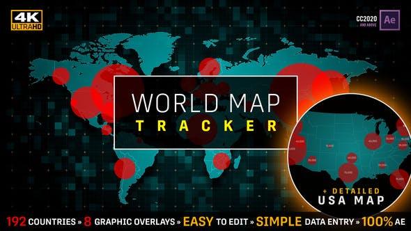 COVID-19 Coronavirus Pandemic Tracker | World Map & USA Map Population