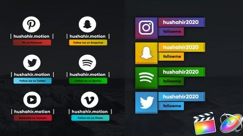 Social Media Modern Lowerthirds