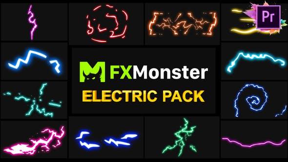 Thumbnail for Electricity Elements | Premiere Pro MOGRT