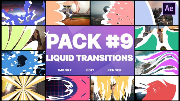 Thumbnail for Liquid Transitions Pack 09 | After Effects