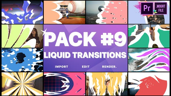 Thumbnail for Liquid Transitions Pack 09 | Premiere Pro MOGRT