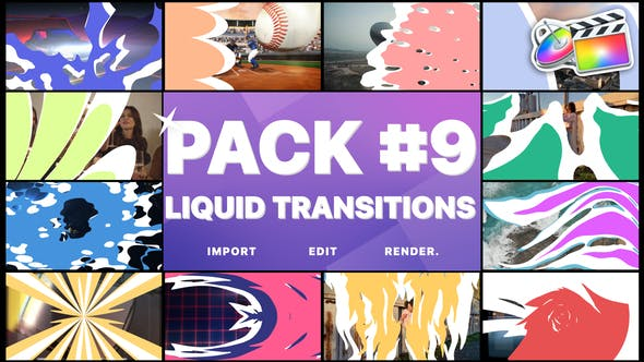 Thumbnail for Liquid Transitions Pack 09 | FCPX